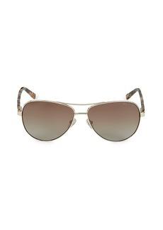Ted Baker 60MM Aviator Sunglasses