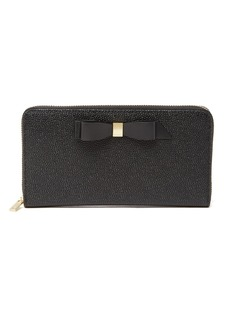Ted Baker Aine Bow Zip Around Leather Matinee Wallet