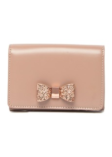 Ted Baker Anki Glitter Bow Leather Wallet