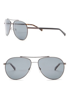 Ted Baker Aviator 57mm Metal Frame Sunglasses