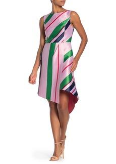 Ted Baker Bay of Honor Stripe Asymmetrical Hem Dress