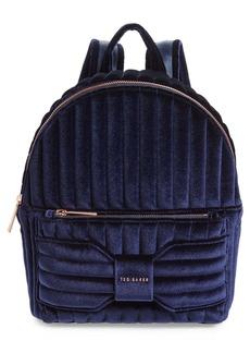 Ted Baker Bow Detail Velvet Backpack