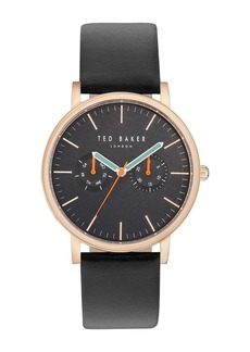 Ted Baker Brit Round Watch Three-Strap Gift Set, 40mm