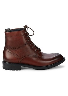 Ted Baker Brogue Derby-Style Leather Boots