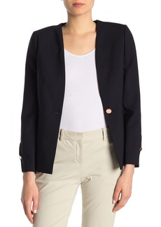 Ted Baker Cerisa Collarless Tailored Wool Blend Jacket