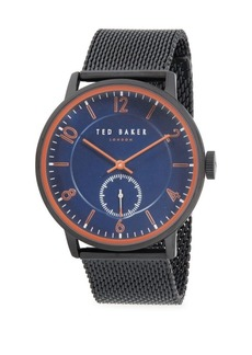 Ted Baker Chronograph Stainless Steel Mesh Strap Watch