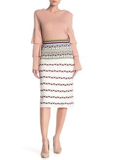 Ted Baker Coari Geo Print Knit Skirt
