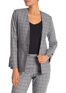 Ted Baker Collarless Check Jacket