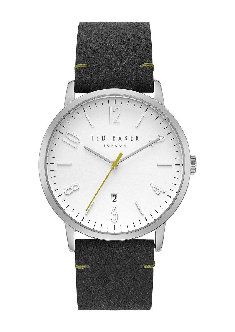 Ted Baker Men's Daniel Synthetic Strap Watch, 42mm
