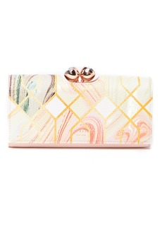 Ted Baker Denna Sea of Clouds Bobble Matinee Leather Wallet