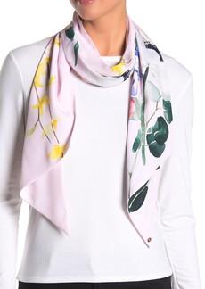 Ted Baker Embber Elegant Watercolor Floral Skinny Scarf