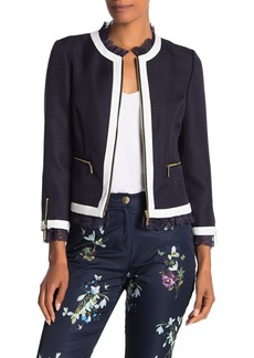 Ted Baker Ennio Lace Trim Woven Jacket