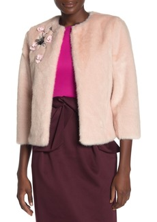 Ted Baker Faux Fur Embellished Coat