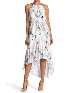 Ted Baker Floral Pleated High/Low Hem Dress