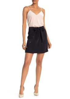 Ted Baker Florda Tie Waist Button Front Skirt