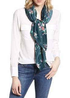 Ted Baker Flourish Pleat Diamond Silk Scarf