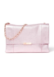 Ted Baker Galayya Metallic Soft Grain Leather Shoulder Bag