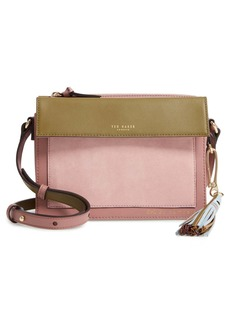 Ted Baker Glacial Leather & Suede Crossbody Bag