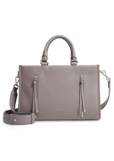 Ted Baker Hanee Double Zip Detail Small Leather Tote