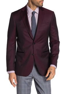 Ted Baker Jack Berry Solid Two Button Notch Lapel Wool Blend Suit Separate Blazer