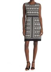 Ted Baker Jammiea Geo Print Jacquard Knit Dress