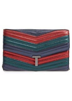 Ted Baker Jasicca Quilted Chevron Leather Clutch
