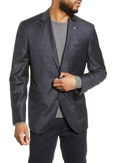 Ted Baker Jay Trim Fit Plaid Wool Sport Coat
