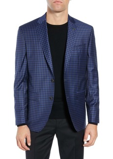 Ted Baker Jay Trim Fit Check Wool Sport Coat