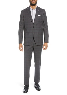 Ted Baker Jay Trim Fit Plaid Stretch Wool Suit