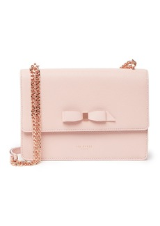 Ted Baker Joanaa Bow Detail Leather & Chain Crossbody Bag