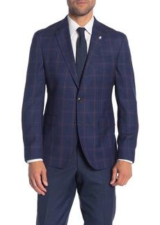 Ted Baker Konan Trim Fit Plaid Wool Sport Coat