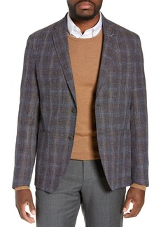 Ted Baker Kyle Berry Plaid Two Button Notch Lapel Wool Blend Suit Separate Blazer