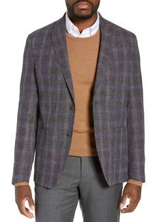 Ted Baker Kyle Trim Fit Plaid Wool Blend Sport Coat