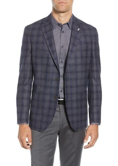 Ted Baker Kyle Trim Fit Plaid Wool Sport Coat