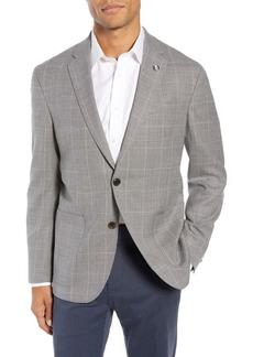 Ted Baker Kyle Trim Fit Windowpane Wool Sport Coat