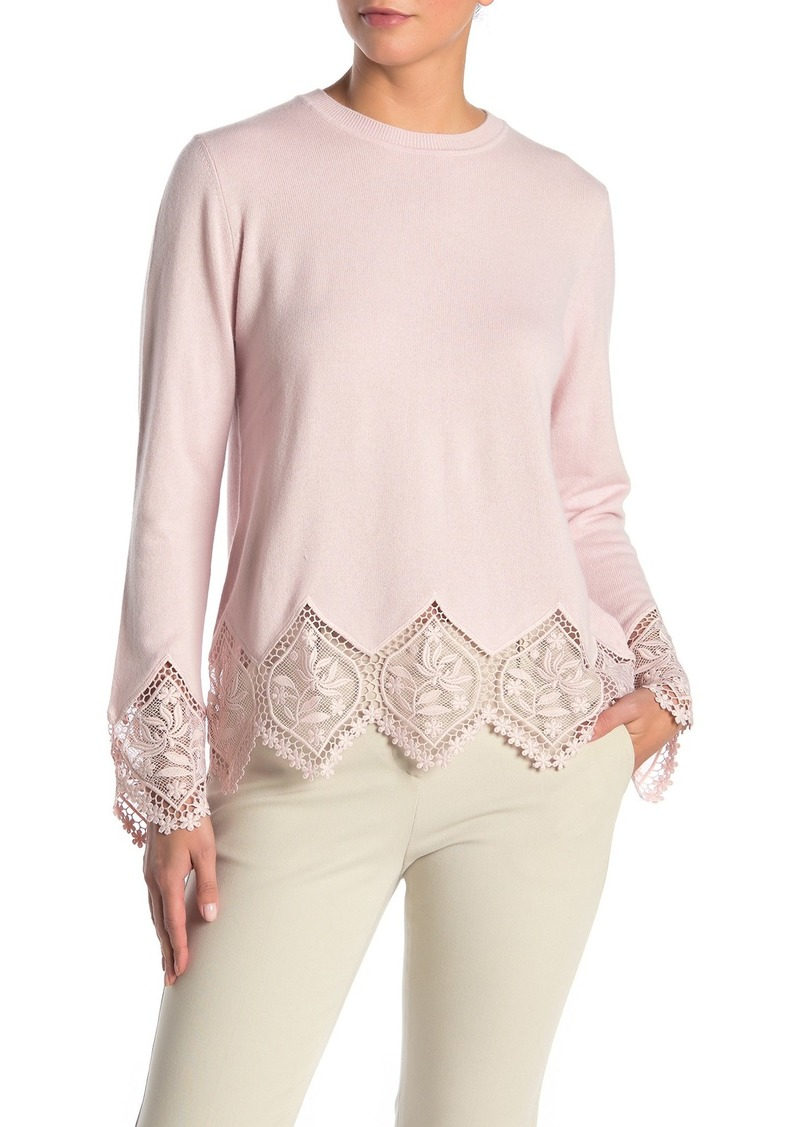 Ted Baker Lace Trim Knit Sweater
