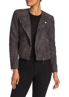 Ted Baker Long Sleeve Asymmetrical Zip Front Jacket