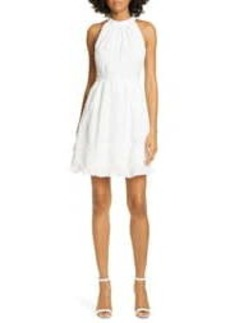 Ted Baker Lorene Embroidered Halter Neck Mini Dress