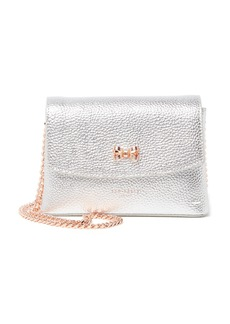 Ted Baker Losani Metallic Leather Looped Bow Crossbody Bag