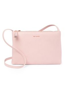 Ted Baker Macey Double Zip Leather Crossbody Bag
