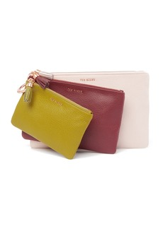 Ted Baker Marioon Colour Bloc Leather Triple Ring Pouch
