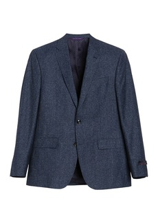 Ted Baker Medium Blue Marled Two Button Notch Lapel Suit