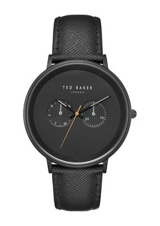 Ted Baker Men's Brad Leather Strap Watch, 42mm