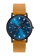 Ted Baker Men's Brit Analog Quartz Leather Strap Watch, 40mm