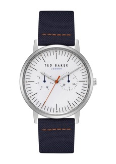 Ted Baker Men's Brit Leather Strap Watch, 40mm