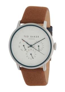 Ted Baker Men's Chronograph Suede Strap Watch, 42mm