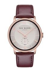Ted Baker Men's Daniel Analog Quartz Leather Strap Watch, 42mm