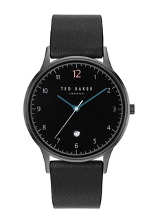 Ted Baker Men's Ethan Leather Strap Watch, 40mm