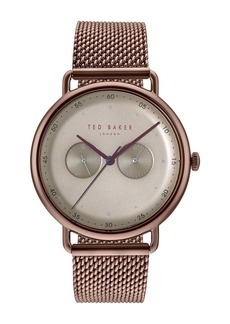 Ted Baker Men's George Mesh Strap Watch, 40mm