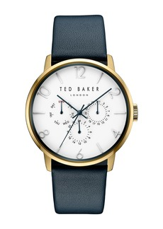 Ted Baker Men's James Leather Strap Watch, 42x47mm